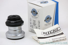 "NIB/NOS Ritchey Logic 1"" Threadless Headset: Silver / Black - 1990's"