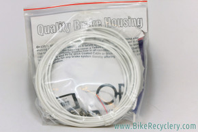 SLR White Brake Cable Housing: 25ft Roll - Lined - Includes Ferrules (QBP)