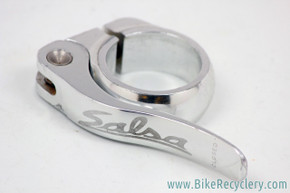 Salsa Flip Lock Seatpost Collar & QR: Silver - 32mm