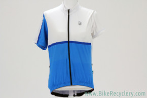 NEW Campagnolo Sportswear Cycling Jersey: Full Zip - Blue/White - Medium - High Tech Modern Material/Fit