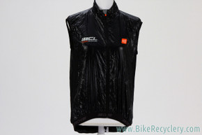 NEW De Marchi Contour Light Shell Vest: Medium - Black - Windproof - Packable