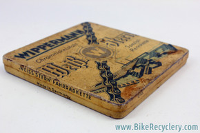 NIB/NOS Wippermann Inch Pitch / Skip Tooth Chain in Metal Tin: 1930's 1940's 1950's Track Racing (RARE)