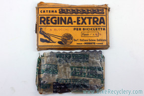 "NIB/NOS Regina Extra Inch Pitch / Skip Tooth Chain: 3/16"" - Link - 1930's 1940's 1950's Track Racing (RARE)"