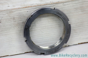 Phil Wood Fixed Gear / Track Lockring: Stainless Steel - Left Thread (Near Mint)