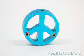 Ringle Mojo Peace Sign Cantilever Brake Cable Carrier: Turquoise - Vintage 1990's (Near Mint)
