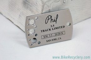Phil Wood Dog Tag Commemorating 38th Anniversary Limited Edition 3.5 Track Hubset