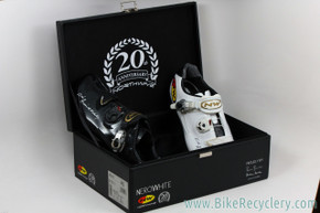 Northwave Nerowhite 20th Anniversary Road Racing Shoes: Size 45 - Black/white (NEW)