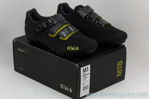Fi'zi:k M3 UOMO MTB Race Shoes: Size 46 - Carbon - Black (NEW)