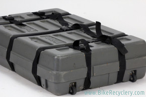Trico Iron Case Bicycle Travel Hard Box: Includes Foam Padding