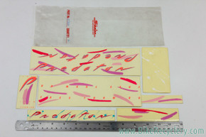 NOS Schwinn Predator Free Form BG Decal Set: Original Factory Decals