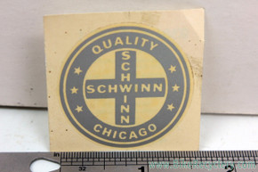 NOS Chicago Schwinn Quality Seat Tube Decal: 1960's / 1970's - Stingray / Paramount / American etc - Silver - Original Factory Decals