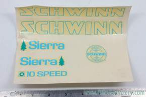 NOS Schwinn Sierra Decal Set: Original Factory Decals
