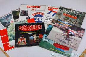 Schwinn Dealer Appointment Calendar Lot: 1973-1983 - 10pc