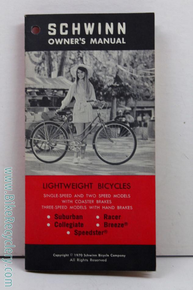nos 1970 schwinn lightweight bicycle owner s manual suburban rh bikerecyclery com Custom Schwinn Varsity 1975 Schwinn Varsity