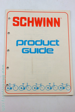 1975 Schwinn Product Guide / Sales Training Manual: 44 pages