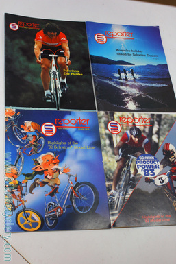 1980's Schwinn Reporter Quarterly Magazine Lot of 4: Full Color - 30+ Pages Each - 1981 thru 1983