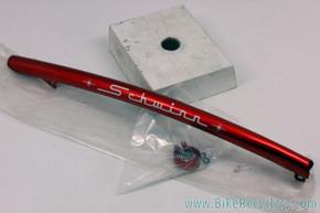 """NIB Schwinn Bantam Top Tube Convertible Bar: 20"""" - Red - w/ Clamps"""