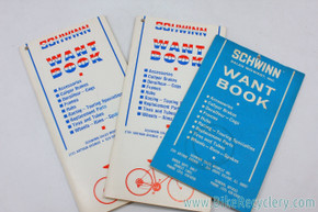 Schwinn Want Book / Dealer Order Pads: Set of 3
