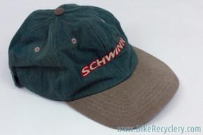 NOS Schwinn Bass Boat Green Baseball Cap / Hat: 1990's