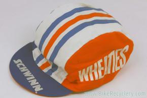 Schwinn Wheaties Cycling Cap: Orange / Blue / White