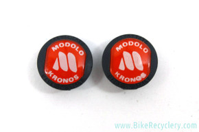 NOS Modolo Kronos Brake Caliper Buttons: Red & Black (pair)