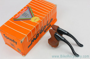 NIB/NOS Modolo Speedy Brake Levers: Black - Tan 919 Anatomical Hoods (MINT)