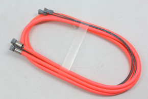 NOS Oversized 2mm MTB Brake Cable & Housing Set: Pink/Peach - Straddle Cables