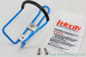 NOS Velocity Snap-Clamp Alloy Bottle Cage: Blue - Vintage 1980's / 1990's (Several available)