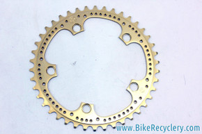 NOS Zeus 2000 / Supercronos GOLD Drilled Chainring: 42t x 119mm BCD (take-off?)