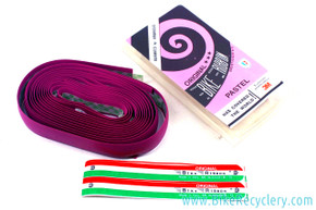 NOS/NIB PURPLE Ambrosio Bike Ribbon Professional Bar Tape: Perforated Faux Leather