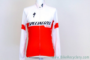 2017 Howard Grotts Team-Issued Specialized SL Pro Long Sleeve Jersey: Medium - Lightweight - Red & White (MINT+)