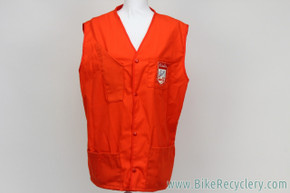 Schwinn Shop Mechanic's Vest: Large / XL - Vintage 1960's 1970's - Red