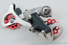 NOS Shimano XT RD-M737 Rear Derailleur: Red Carmichael Pulleys - SGS (take-off)