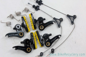 TRP EuroX Cantilever Cyclocross Brakeset: Magnesium - Black -Yellow Inplace Swissstop pads (EXC+)