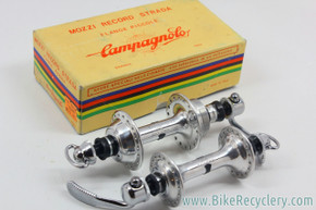 NIB/NOS Campagnolo Nuovo Record Strada Low Flange Hubset: 36H - 126mm - Curved Blade QR's (PRISTINE)