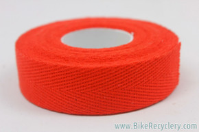 Red Cotton / Cloth Handlebar Tape: One Double Roll (for one handlebar)
