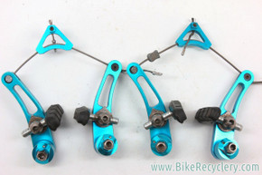 Critical Racing Cantilever Brake: Turquoise Anodized - Titanium Hardware - Complete (EXC+)