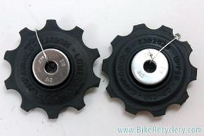 NOS Campagnolo 9/10 Speed Rear Derailleur Pulleys: Black