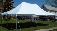 20 x 30 White Canopy Pole Tent