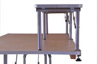 "8' x 12"" Banquet Table Bar-Top Riser end view"