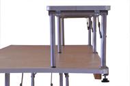 """6' x 12"""" Banquet Table Bar-Top Riser End View"""