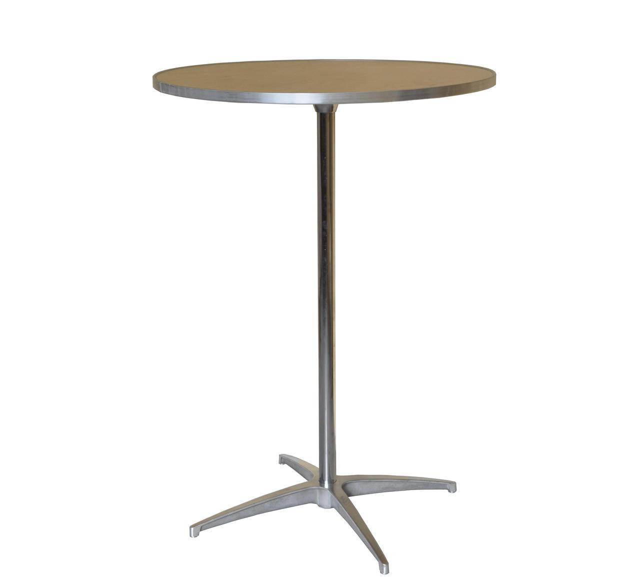 """30"""" Round Wooden Cocktail/Bistro Table Rental Starting At"""
