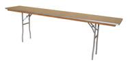 "8 x 18"" Rectangular Wooden Seminar Table Right Angle"