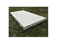 Dura-Trac 4' x 4' Poly Event Flooring (WHITE) Rental