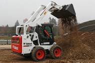 Bobcat S570 Skid-Steer Loader in Use 1