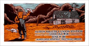 Alison Krauss & Union Station Original Silkscreen Concert Poster Gary Houst