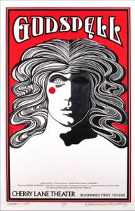 Godspell Poster New Artist Edition A/P Hand-Signed by Original Artist David Byrd