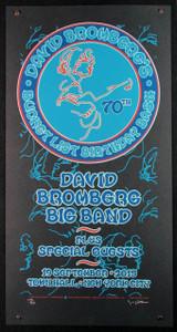 David Bromberg Poster 70th Birthday Bash New York #128/135 Signed Gary Houston