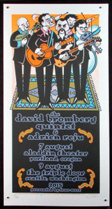 David Bromberg Quintet Poster Portland 2015 #31/135 hand-signed by Gary Houston.