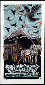 Death Cab for Cutie Poster McMenamins S/N Ltd Edition Hand Signed Gary Houston